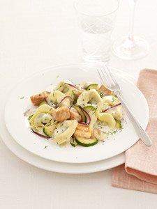 Tortellini mit Lachs und Zucchini