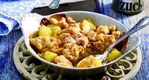 Apfel-Crumble mit Ingwer