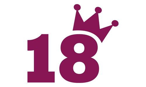 Jubläum Logo 18 mit Krone