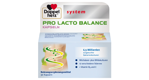 Packshot Doppelherz system Pro Lacto Balance Kapseln Nahrungsergänzung