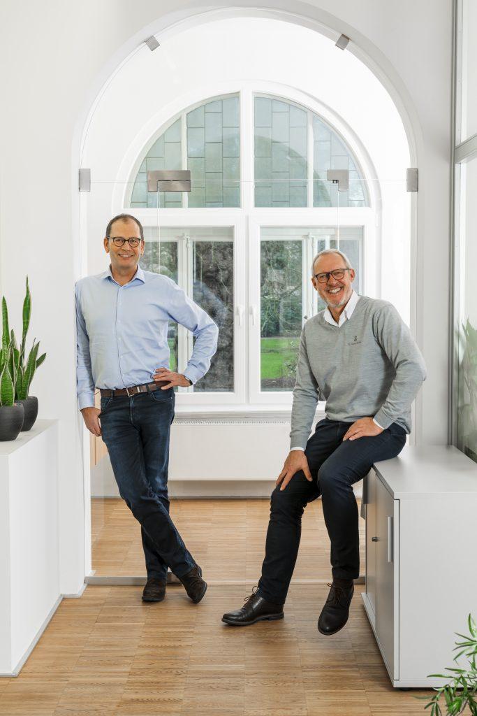 Helmut Jordan und Hans-Gerd Harbers die Geschäftsführer von Dr. Johanna Budwig