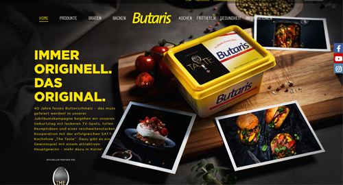 Butaris Website Home
