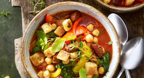 Eintopf mit Kichererbsen und Gemüse