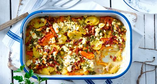 leckeres Kürbis Kartoffel Gratin Rezept mit Butaris